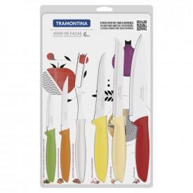 jogo-de-facas-6-pcs-plenus-color-laminas-de-aco-inox-e-cabos-de-polipropileno-tramontina