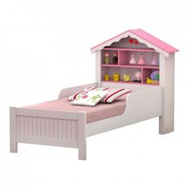 conjunto-cama-solteiro-estante-branca-rosa-ofertamo