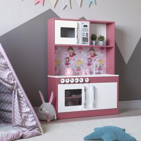 Cozinha Infantil Diana em MDF Branco/Rosa - Ofertamo