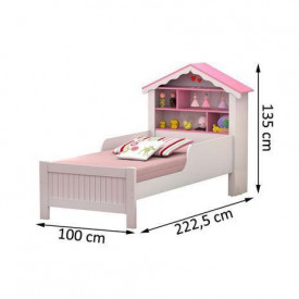 conjunto-cama-soltero-casinha-princesa-ofertamo