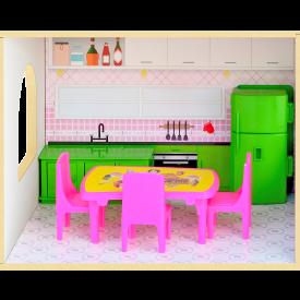 Casinha de bonecas sweet home com acessórios Junges cód.410 - Mdf
