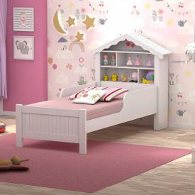 conjunto-cama-solteiro-princesa-estante-branca-ofertamo