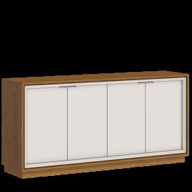 Buffet Ópera Imcal 66675 Off White Freijo com 4 Portas Sala