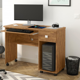 Mesa Para Computador Office Vicenza Lukaliam Amêndoa
