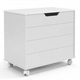 Baú Toy Matic Móveis Branco Soft 51187 Quarto Infantil