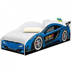 Mini Cama Carro Juvenil  com Baú Azul Vitamov