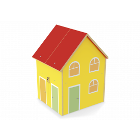 Casinha yellow house  com acessórios Junges cód.412 - Mdf