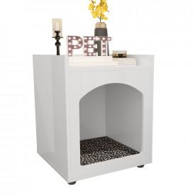 Mesa de Cabeceira Casinha de Cachorro/Gato PET Branco Ofertamo