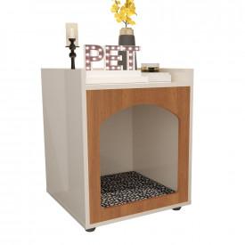 Mesa de Cabeceira Casinha de Cachorro/Gato PET Off White Freijo Ofertamo