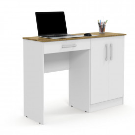 Mesa para Computador Space Multiuso Branco/Nature Patrimar