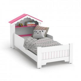 Mini Cama Infantil Casinha Princesa Branco Com Rosa Ofertamo