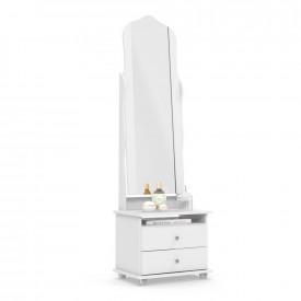 Toucador Magic Branco Quarto Espelho Articulado 2 Gavetas Patrimar