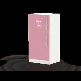 Geladeira super lux rosa  com acessórios Junges cód.422 - Mdf