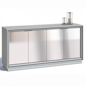 Buffet Ópera Imcal 6679 Branco Com 4 Portas Espelho Sala