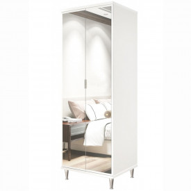 Sapateira Prada Imcal 8829 2 Portas Branco Com Espelho