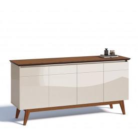 Buffet Classic Imcal Off White com Freijó 4 Portas - 66475